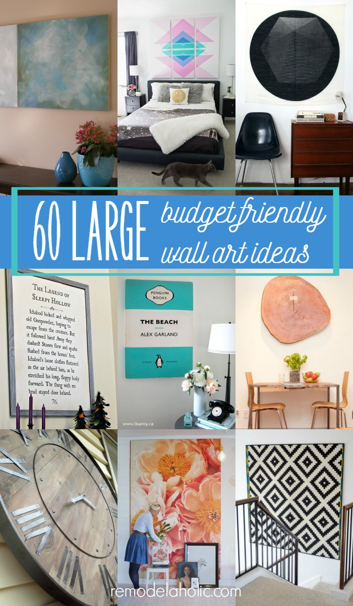 60 budget friendly ideas for high impact large wall