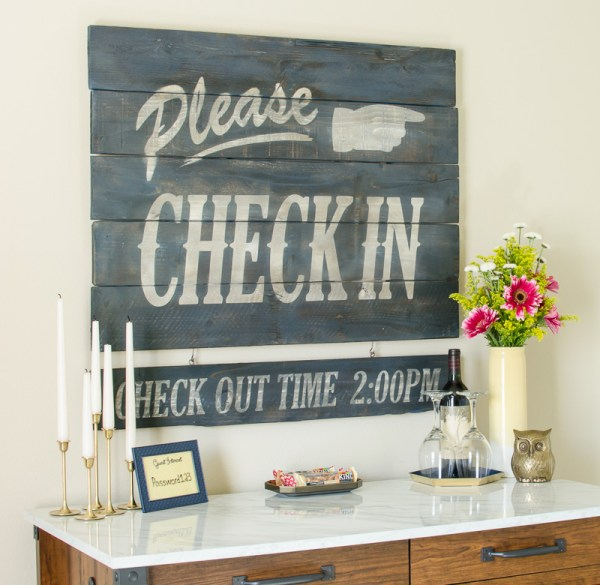 DIY Guest Room Wood Plaque by A Prudent Life for Remodelaholic