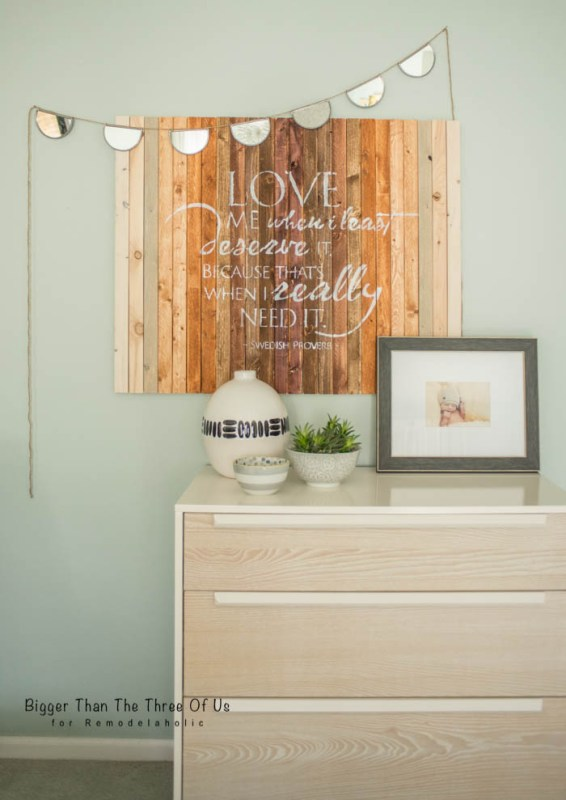 DIY Wall Decor: Ombre Wood Wall Art by Bigger Than The Three Of Us for Remodelaholic