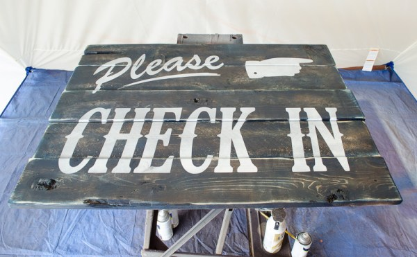 DIY Please Check In Guest Room Sign by A Prudent Life for Remodelaholic