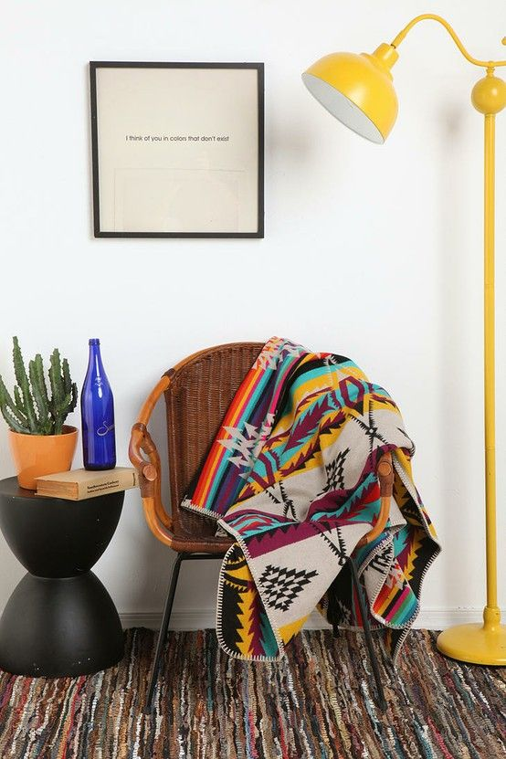 Modern Southwest inspired decorating