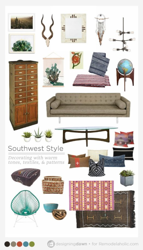 Designing Dawn for Remodelaholic - Southwest Style