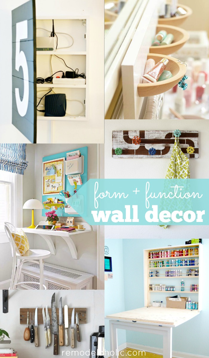 30 Ways To Make Your Home Pinterest Perfect: 30+ Functional Wall Decor Ideas
