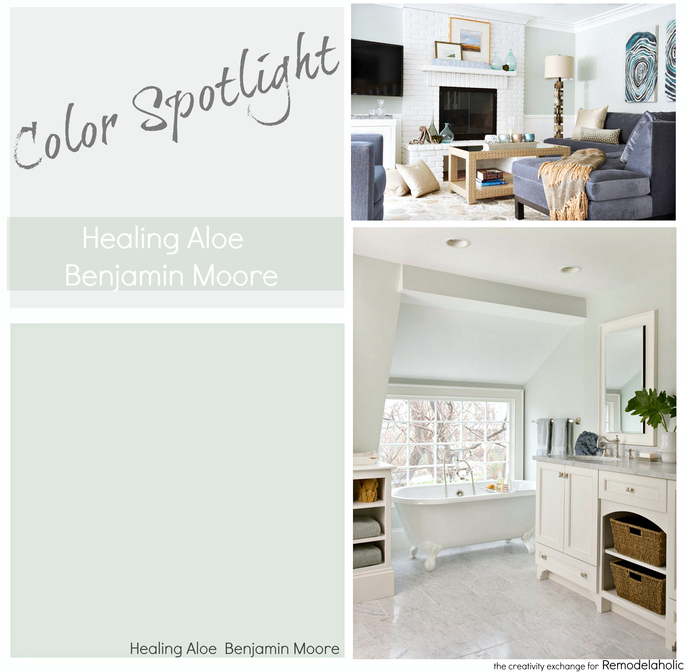 Light Green Paint Colours: Color Spotlight: Healing Aloe From