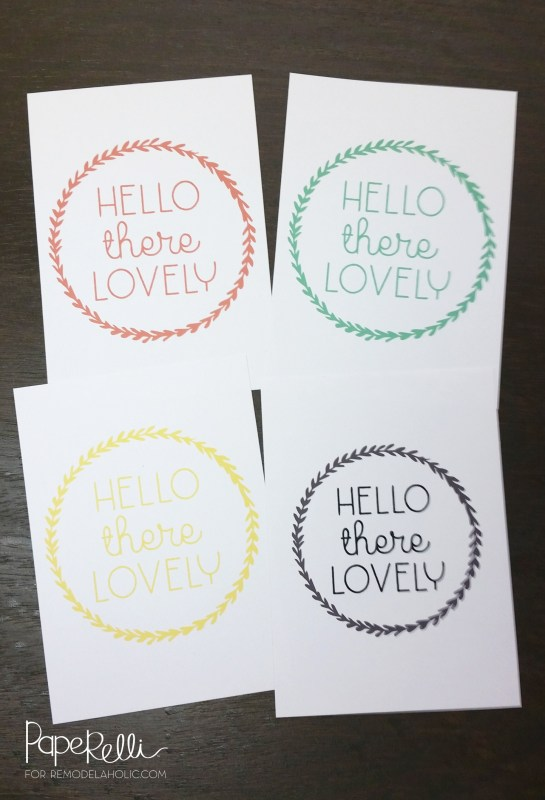 Hello There Lovely Printable Wall Art