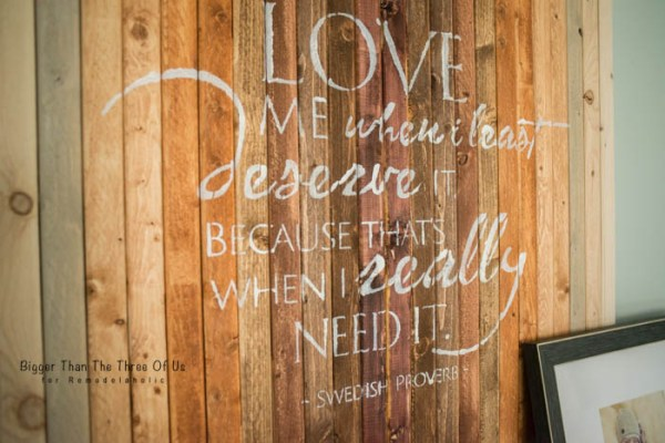 Love Me When I Least Deserve It Wall Art by Bigger Than The Three Of Us for Remodelaholic
