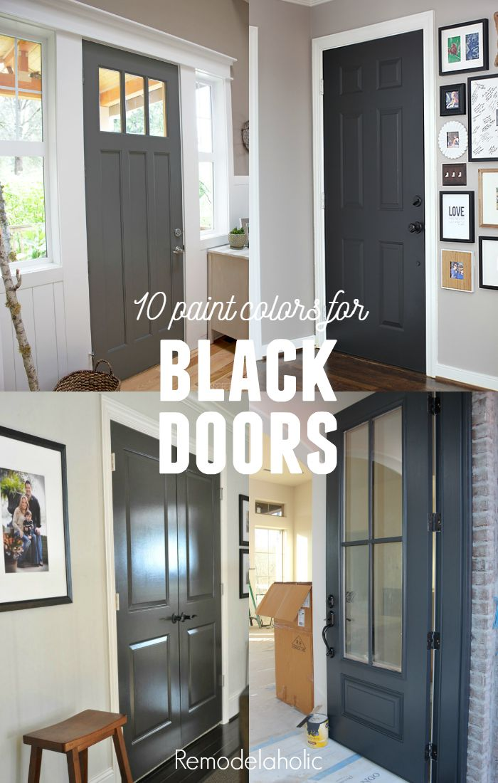 plus more creative DIY painted doors u2013 perfect for updating a boring flat door! & Remodelaholic | 26 Tips for Painting Interior Doors