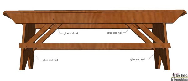 Build a beautiful DIY primitive farmhouse bench for your farmhouse table or extra seating. Free plans on @Remodelaholic