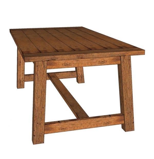 Build an easy beginner DIY farmhouse dining table for $100