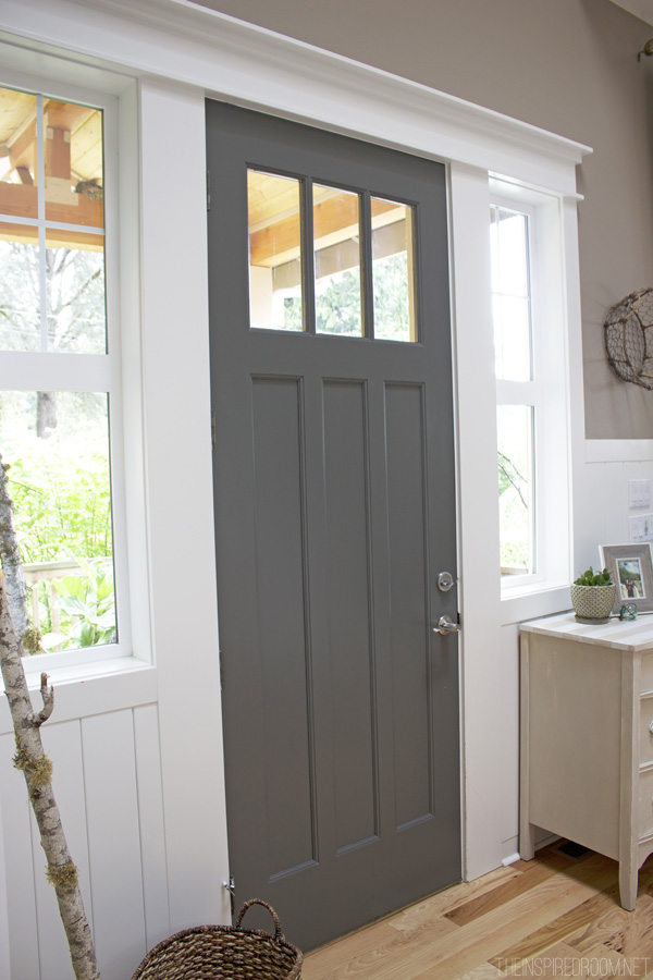Remodelaholic decorating with black 13 ways to use dark colors in dark gray painted front door bm kendall charcoal the inspired room planetlyrics Image collections