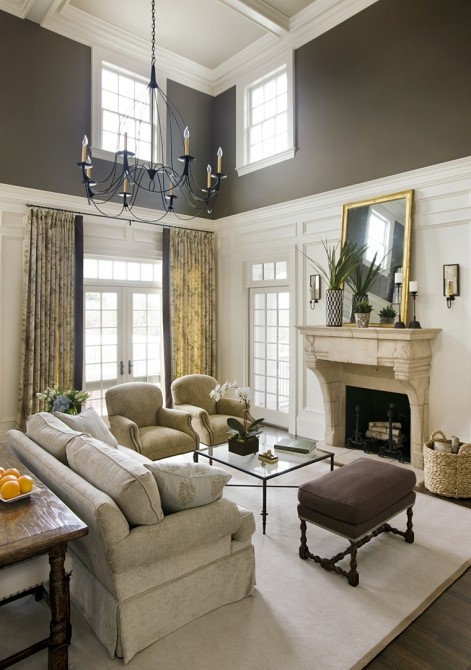 Custom Paint Ideas For Living Room With High Ceilings Collection