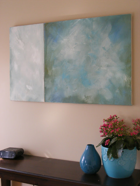 diy canvas and large abstract art (Imperfect Homemaking)