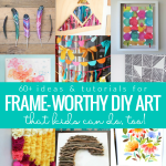 Easy Art Ideas For Frame Worthy Kids Art Projects, Diy Kids Wall Decor, Remodelaholic