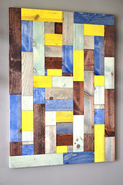 easy diy wood scrap wall art (This Girls Life)