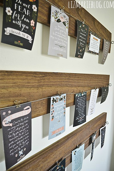 easy wood and wire art print or photo display (Liz Marie_