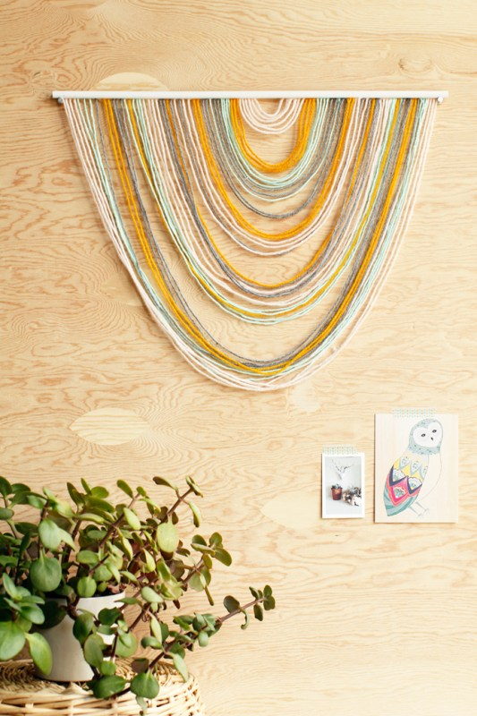 easy yarn art tapestry (For The Love Of)