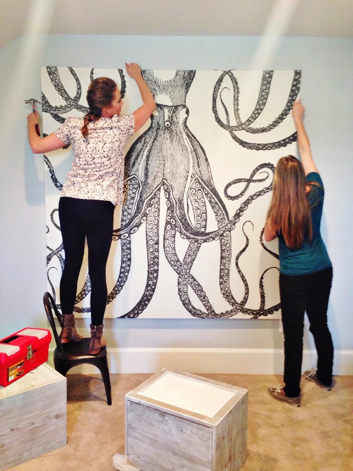 Remodelaholic | 60 Budget-Friendly DIY Large Wall Decor Ideas on Pinterest Wall Decor  id=49057