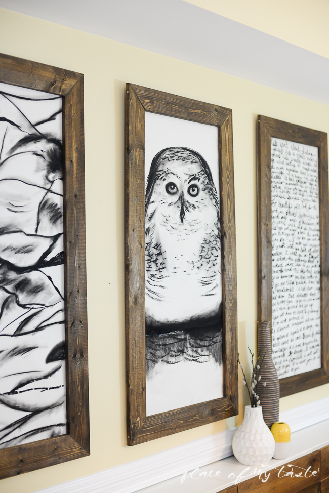 Giant Hand Sketched Wall Art And DIY Frames (Place Of My Taste)
