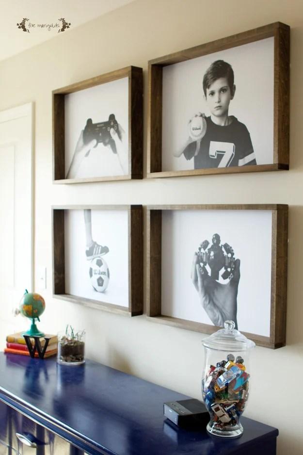 Remodelaholic | 60 Budget-Friendly DIY Large Wall Decor Ideas on Pinterest Wall Decor  id=26127