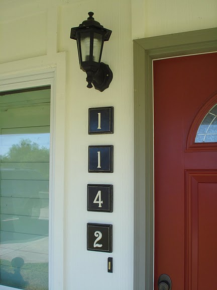 house number plaques