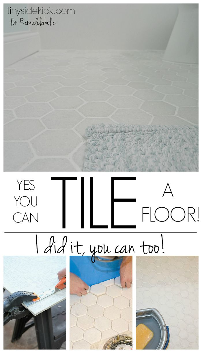 Remodelaholic | How to Tile a Bathroom Floor