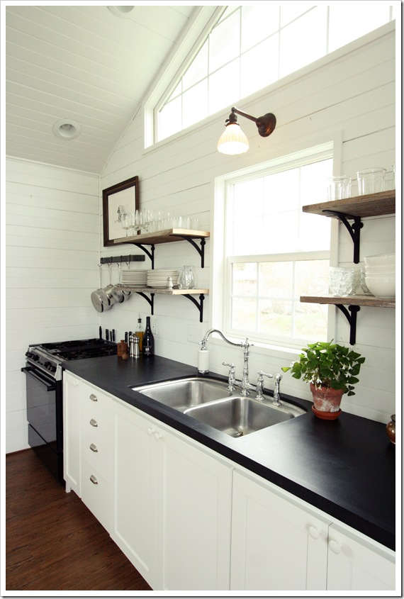 Remodelaholic   Decorating With Black: 13 Ways To Use Dark ... on Black Countertops  id=51174