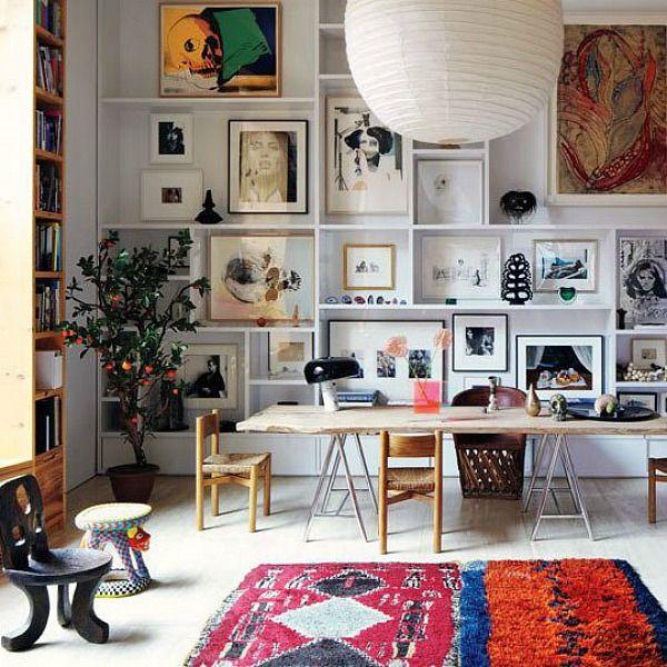 shelves and art
