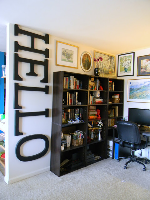DIY Wall Decor Ideas: wall art, large letters (Pike's Place Blog)