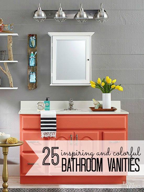 25 Inspiring and Colorful Bathroom Vanities via tipsaholic.com