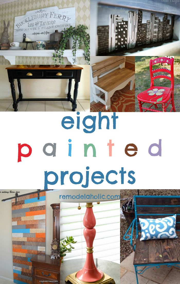 Remodelaholic 8 Painted Projects Friday Features Link Up