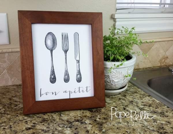 Bon Apetit Kitchen Printable by Paperelli for Remodelaholic