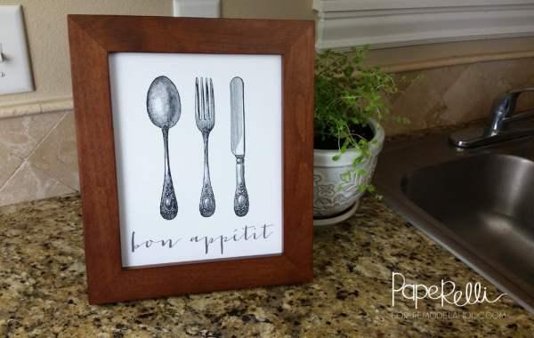 Bon Appetit Printable by Paperelli @Remodelaholic