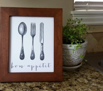 Bon Appetit Printable by Paperelli @Remodelaholic