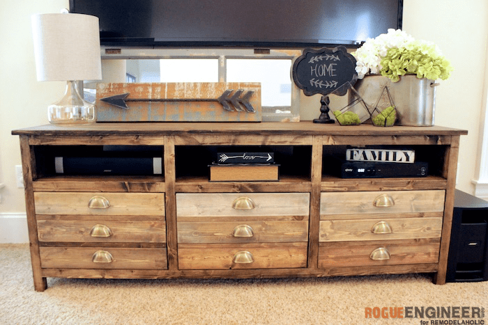 DIY Printmakers Media Console Plans - Rogue Engineer 1