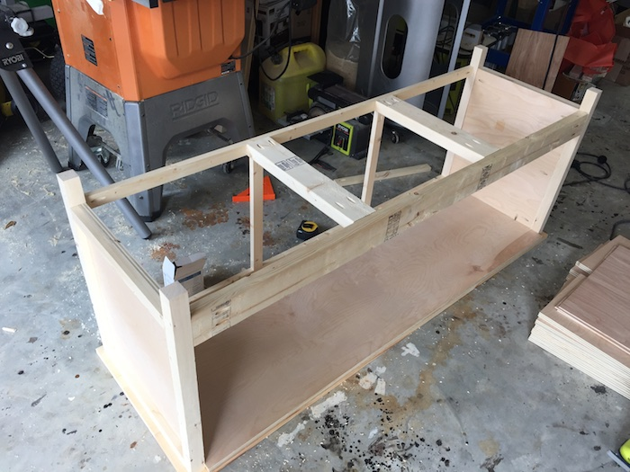 DIY Printmakers Media Console Plans - Step 6