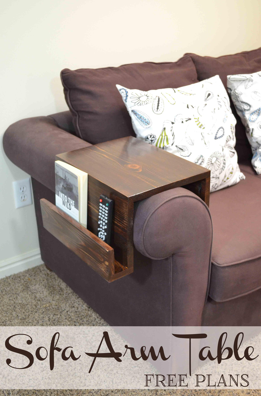 remodelaholic diy sofa arm table rh remodelaholic com Red Over the Sofa Arm Tray Over Arm Trays