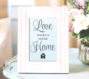 Love is What Makes a House a Home by Paperelli @Remodelaholic