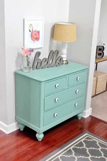 chalk paint dresser makeover Delightfully Noted