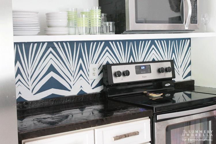 Diy Kitchen Backsplash Stencil 12