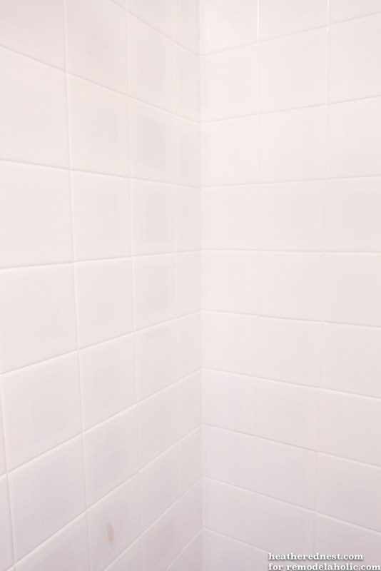 DIY tub and tile reglazing project!  Lighten and brighten your bath for about $50 in one weekend!