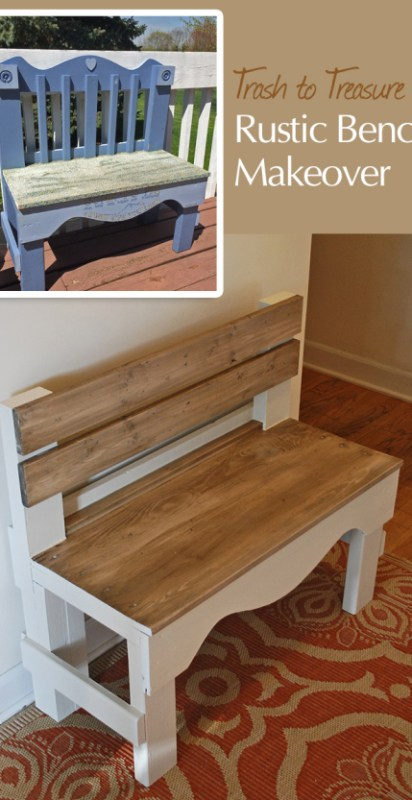 realhappyspace painted bench makeover