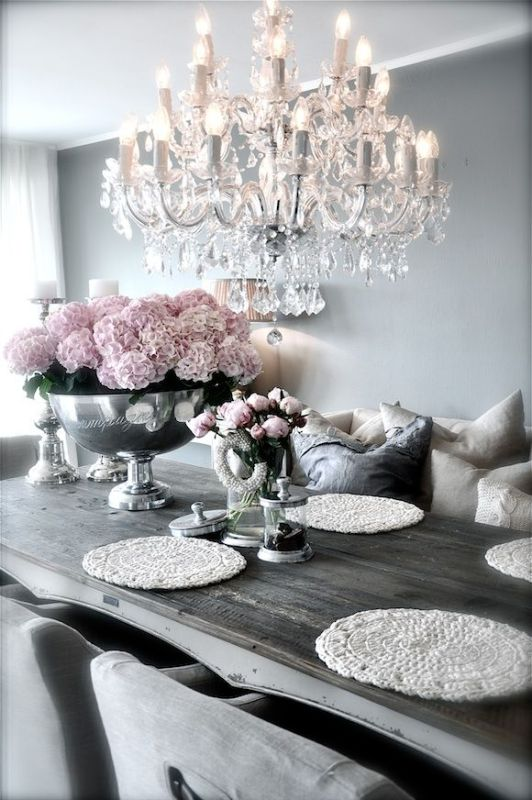 rustic chic dining room