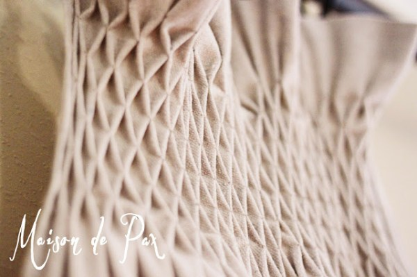 smocked curtains from a dropcloth
