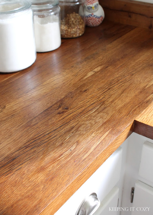 Andrea Keeping It Cozy DIY reclaimed wood countertop review