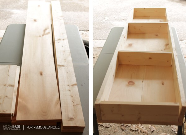 Assembling bench base - HMC for Remodelaholic