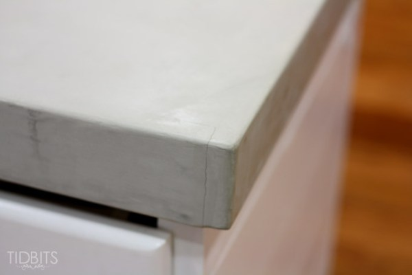 Cami Tidbits review of problems diy concrete countertops built from scratch