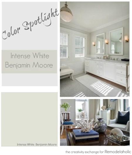 Color Spotlight- Intense White from Benjamin Moore. Remodelaholic