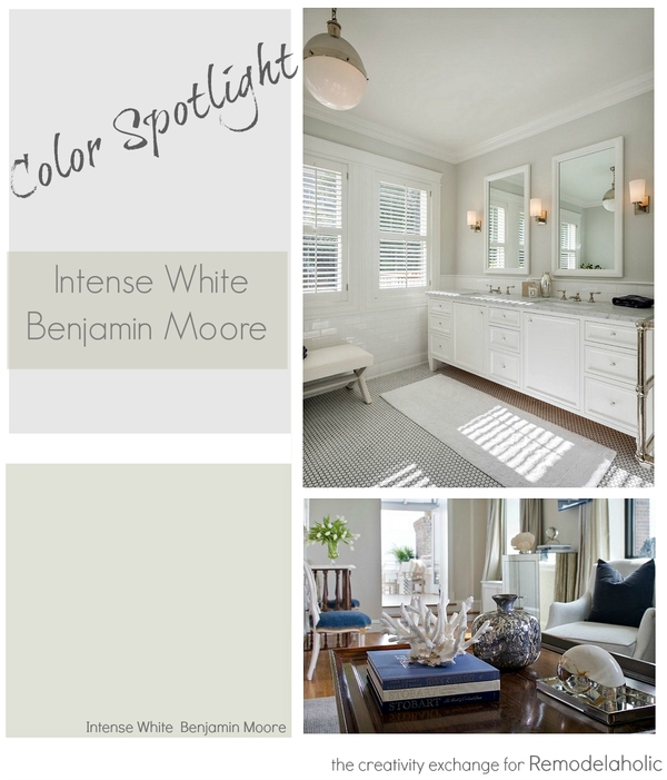 Color Spotlight- Intense White from Benjamin Moore. Remodelaholic