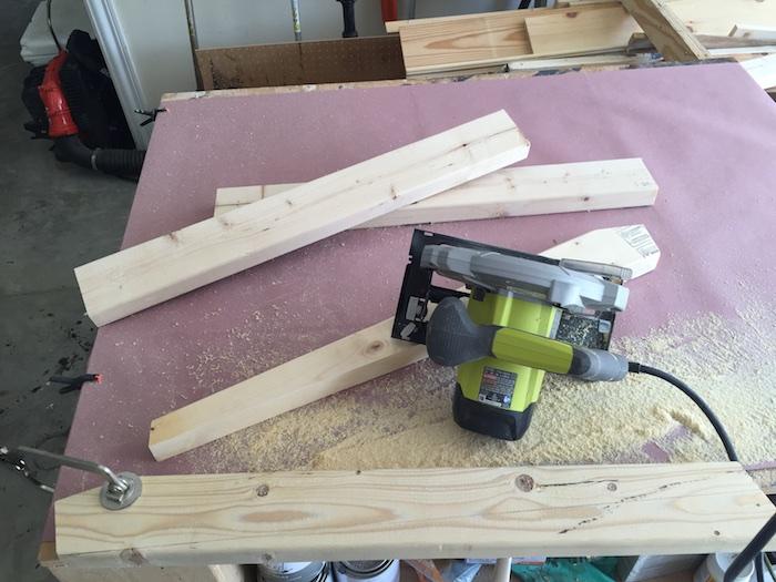 DIY Lindsay Desk - Cutting