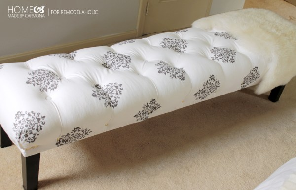 DIY Tufted Bench - HMC for Remodelaholic